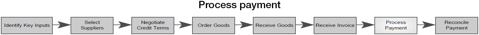 process the payment
