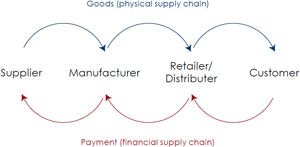 Diagram 1: Physical and financial supply chains