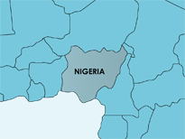 Map showing Nigeria