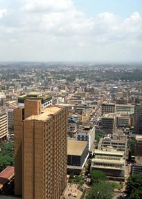 Cityscape of Nairobi