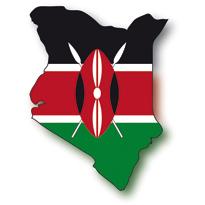 Map and flag of Kenya