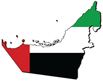Country map of the United Arab Emirates