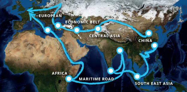 Belt and Road initiative: directions of flow
