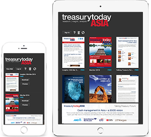 Treasury Today app on iOS devices