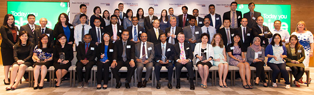 Adam Smith Awards Asia 2014 winners group photo