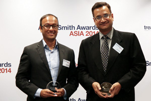 Best Financial Supply Chain Solution, Highly Commended – Arun Sharma of Jublilant Life Sciences and Suman Chaks of Deutsche Bank.