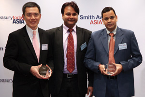 Best AP/AR Solution, Highly Commended – Pradyumna Maheshwari and Sushil Burnwal of Mosaic India and Lim Kiat Seng of J.P. Morgan.