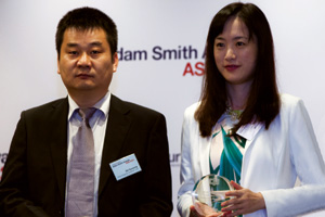 First Class Bank Relationship Management, Highly Commended – Shi Guosong of China Shipping Container Lines and Venessa Xu of Citi.