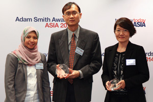 Best Card Solution, Highly Commended – Puan Wan Norjihan Wan Ismail and Peter Ng Hoong Kee of Sime Darby and Jessica Tan of Citi.