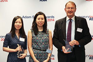 Best Process Re-engineering Solution, Winner – Helen Yong and Freya Yao, Honeywell and Tim Waggett, Citi.
