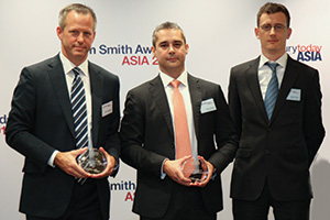 Best Process Re-engineering Solution, Highly Commended – Anton Abraham and Simon Dean, Noble Group and Rich Stephenson, J.P. Morgan.