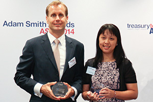 Best Solution in China, Highly Commended – Loh WaiFong, TRW and Stefan Leijdekkers of Bank of America Merrill Lynch.