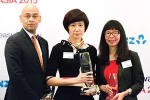 Treasury Today Asia's Top Treasury Team Award for overall excellence, Winner – Amol Gupte, Citi, Vivian Peng, Flex Group and Xueqing Wu, Bank of China