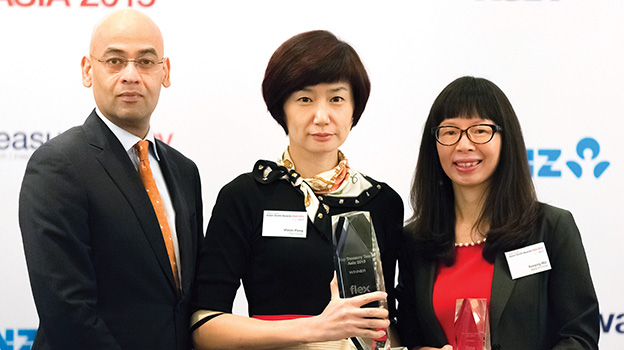 Adam Smith Awards Asia 2015 Treasury Today Asia's Top Treasury Team Award for overall excellence winners Flex Group