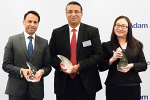 Best Cash Management Solution, Winner – Munir Nanji, Citi, Dinesh Thapar, Hindustan Unilever Ltd and Pauline Wee, Deutsche Bank