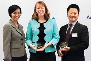 Best Cash Management Solution, Highly Commended – Rosa Tan and Stacey Desrochers, Bruker Corporation and Don Tay, Bank of America Merrill Lynch