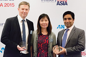 Best Working Capital Management Solution, Highly Commended – Tim Rice and Sally Poon, Jacobs Engineering, Dino Albuquerque, Bank of America Merrill Lynch