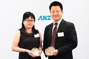 Best Solution in China, Highly Commended – Catherine Por, Kerry Logistics Network, Don Tay, Bank of America Merrill Lynch