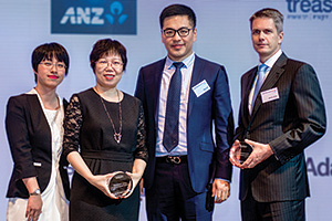 Best Cash Management Solution, Highly Commended Winner – Zhang Lei, Shao XinZhi and Wang Wei, Haier Group and Martijn Stoker, J.P. Morgan.