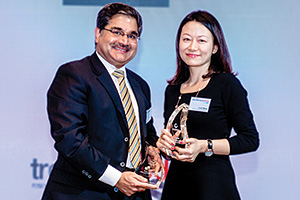 Best Liquidity Management, Overall Winner – Manoj Bhatia, Citi and Lucia Wang, Sanofi.
