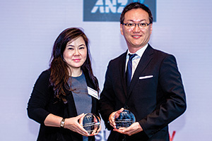 Best Liquidity Management Solution, Highly Commended Winner – Ivone Hodiny, DBS and Conny Hayashi, TCC Group.
