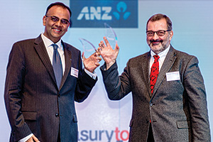 Best Card Solution, Overall Winner – Deven Somaya, Citi and Sid Vasili, Invapay collect on behalf of Hanson Australia.