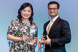 Best Foreign Exchange Solution, Highly Commended Winner – Janet Feng, Ctrip China and Amit Sharma, Bank of America Merrill Lynch.