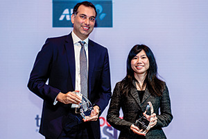 Best Risk Management Solution, Overall Winner – Raj Melvani, Thomson Reuters and Michelle Tay Mi Xue, Mercuria Asia Group Holdings.