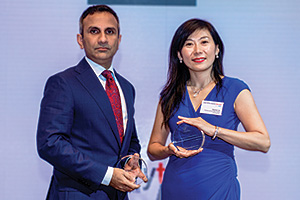 Harnessing the Power of Technology, Highly Commened Winner – Abed Islam, BNP Paribas and Gloria Liu, Fameccanica Machinery (Shanghai).