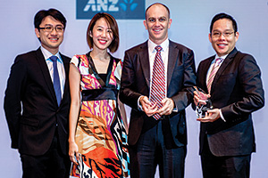 Best SWIFT Solution, Overall Winner – Tay Jingmin, Serene Tan Yung Wee and Robert Kelly, Zoetis and Mark Foo, J.P. Morgan.