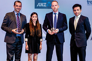 Best SWIFT Solution, Highly Commended Winner – Simon Cole, Reval, Jacqueline Cheng, Richard Shaw, and Bonny Ho, Prudential.