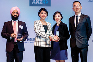 Best SWIFT Solution, Highly Commended Winner – Aman Singh Chadha, Citi, Mee-Yin Soong, Ee-Ching Chang and Voon-Sang Eg, Wilhelmsen Ship Management.