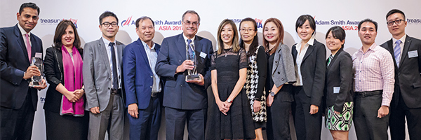 Treasury Today Asia's Top Treasury Team Award for overall excellence, Winner