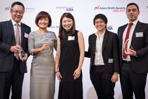 Best Cash Management Solution, Overall Winner – Gary Chan, Citi, Jessica Cheung, Joanna Ow and Kah Ying Ho, BW Maritime and Cédric Chambault, Kyriba.