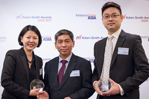Best Cash Management Solution, Highly Commended Winner – Lillian Sim, J.P. Morgan, Chye Seng Goh and Aiden Fung, Anglo-Eastern Univan Group.