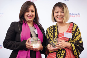 Best AR Solution, Highly Commended Winner – Swati Mitra, Citi and Li Lan, Alibaba Group.