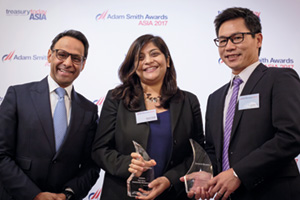 First Class Relationship Management, Overall Winner – Munir Nanji, Citi, Shachi Singh and Kevin Voong, General Electric.