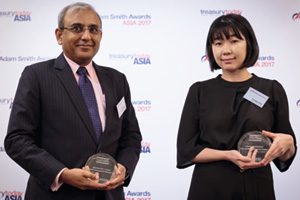 Best Liquidity Management Solution, Highly Commended Winner – Kaushik Shaparia, Deutsche Bank and Youngeun Kim, Atlas Copco Korea.