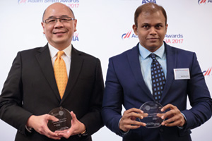 Best SWIFT Solution, Highly Commended Winner – Vic Tham, Bank of America Merrill Lynch and Amit Baraskar, Thomas Cook (India) Ltd.