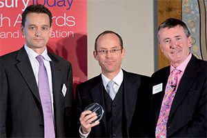 Treasury Today's Top Treasury Team, Highly Commended – Andreas Knopf (SAP), Jörg Wiemer and Richard Parkinson.