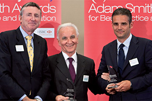 Payables and/or Receivables Solutions, Winner – Photo of Richard Parkinson, Amadio Lazzarini and Riccardo Madinelli, UniCredit.
