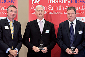 Outstanding Insourcing/Outsourcing, Winner – Photo of Richard Parkinson, Jamie Simmonds and Kevin Martyn, HSBC.