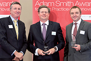 Best Corporate Debt Solution, Winner – Photo of Richard Parkinson, Mike Verrier and Kevin Grant, IT2.