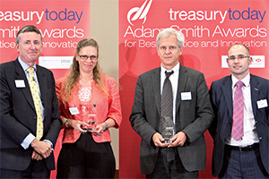 One to Watch, Winner – Photo of Richard Parkinson, Anita Diriwaechter, RBS, Michael Stumm and Lee Anstee, RBS.