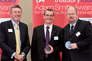 Treasury Today's Top Treasury Team, Highly Commended – Photo of Richard Parkinson, Xavier Hourseau and Andrew Woods, SunGard.