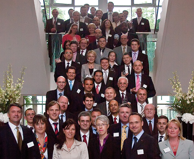 Group photo of the 2009 Adam Smith Award winners.