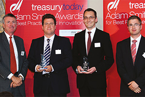 Global Liquidity Management, Winner – Richard Parkinson, Mathias Meisel, Claus Pahlke, Deutsche Bank and Sascha Schollmeyer, Zurich Financial.