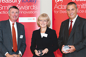 Payables and/or Receivables Solutions, Highly Commended – Richard Parkinson, Carole Berndt, Bank of America Merrill Lynch and Steve Donovan from ConocoPhillips accepting on behalf of Judy Bouchard.