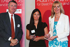 Best Card Solution, Highly Commended – Richard Parkinson, Joanne Edwards from AstraZeneca and Barbara Harrison, Citi.