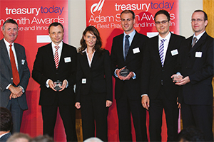 Mid-market Treasury, Highly Commended – Richard Parkinson, Thomas Dippold and Nadine Scheffler, SEMIKRON, Sven Johannesmeier, HSBC, Markus Wendel, SEMIKRON and Mathias Deschner, Bellin.